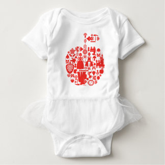 Snow White & Friends Apple Baby Bodysuit