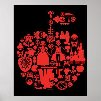 Snow White & Friends Apple Poster
