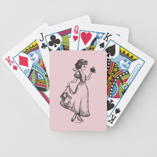 Snow White | Holding Apple - Elegant Sketch Bicycle Playing Cards