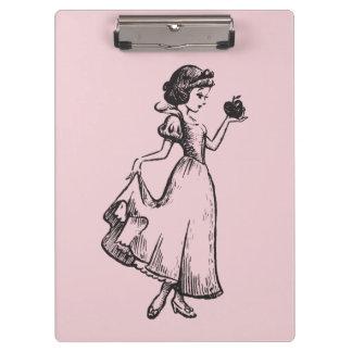 Snow White   Holding Apple - Elegant Sketch Clipboard