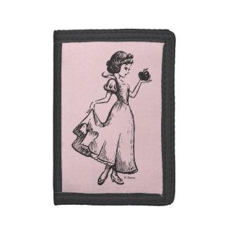 Snow White | Holding Apple - Elegant Sketch Tri-fold Wallets
