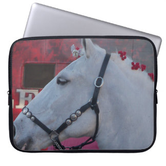 Snow white horse laptop sleeve