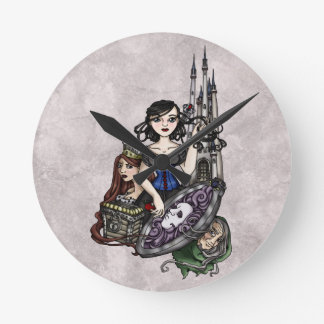 Snow White II Round Clock
