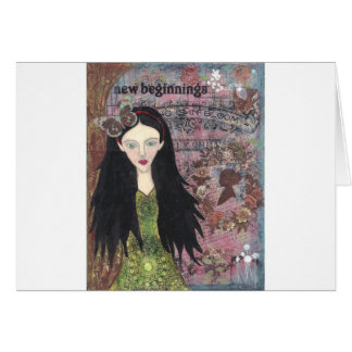 Snow White in the Forest Card