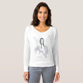 Snow White pen and ink drawing long sleeve shirt