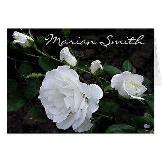 Snow White Rose  - Placecard Note Card