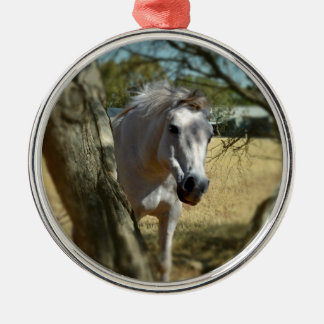 Snow White The Horse, Metal Ornament