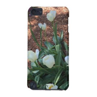 Snow white tulip type flowers in a garden iPod touch (5th generation) cases