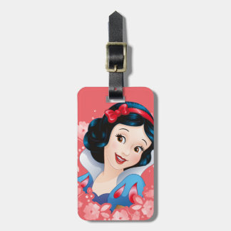 Snow White | Watercolor Floral Frame Luggage Tag