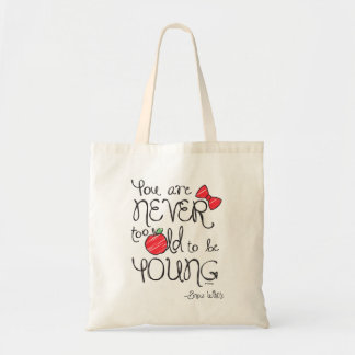 Snow White | You Are Never To Old To Be Young Tote Bag