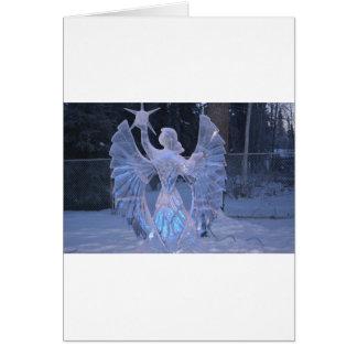 Snow Winter Sculpture  angel  Christianity Faith Card