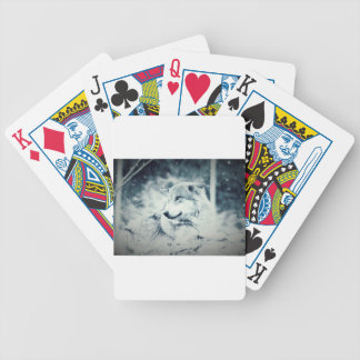 Snow Wolf... Bicycle Playing Cards