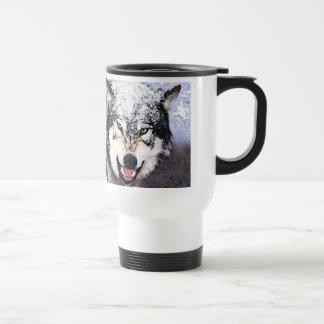 Snow Wolf Travel Mug