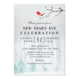 Snow Wonderland New Year's Eve Party Invitation