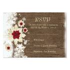 Snow Wood Christmas RSVP card