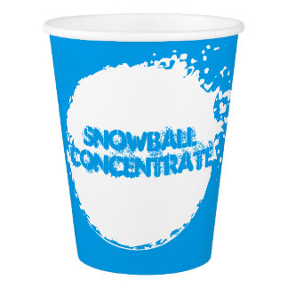 SNOWBALL CONCENTRATE Funny Paper Cup