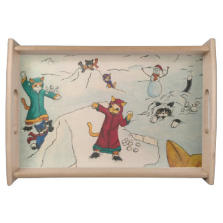 Snowball Fight Serving Tray
