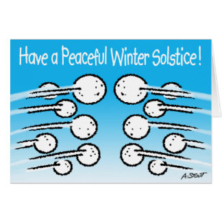 Snowball Winter Solstice Greeting Card