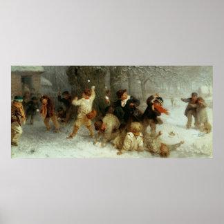 Snowballing, 1865 poster