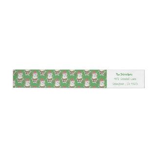 Snowbell Christmas personalised wraparound label