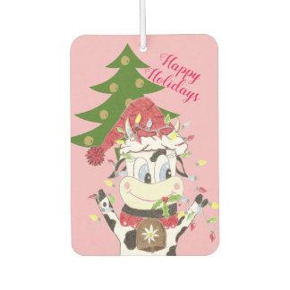 Snowbell decorating her Christmas tree Car Air Freshener