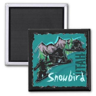 Snowbird Utah snowboard magnet