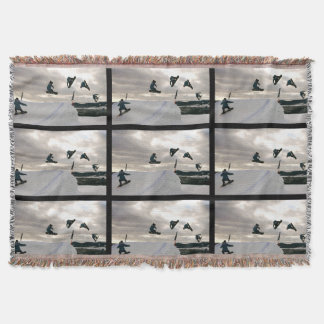 snowboard-6 throw blanket