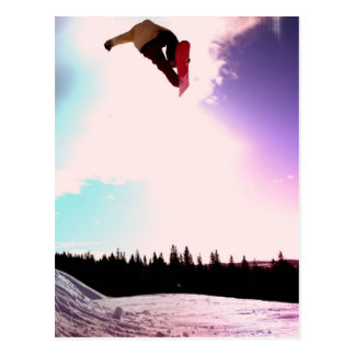 Snowboard Air Postcard