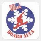 Snowboard Alta Square Sticker