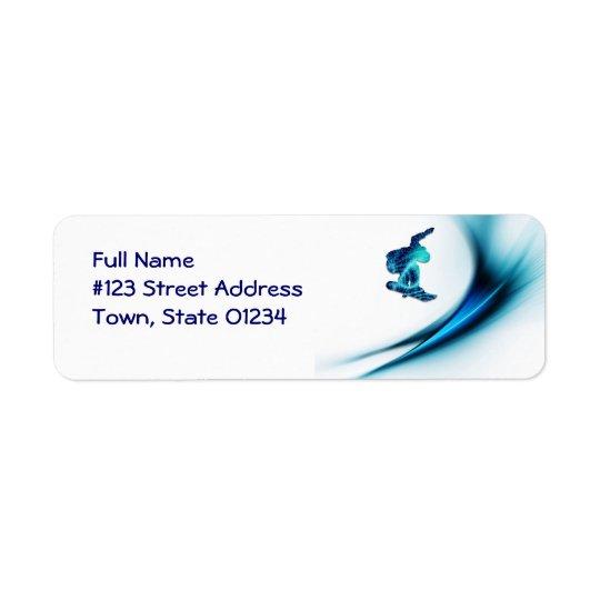 Snowboard Design Mailing Label
