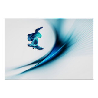 Snowboard Design Print