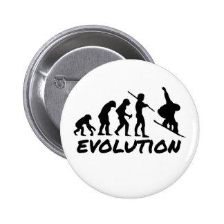 Snowboard Evolution 6 Cm Round Badge