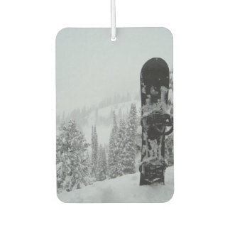 Snowboard In Snow Car Air Freshener