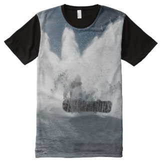Snowboard in the Snow Winter Sports All-Over Print T-Shirt