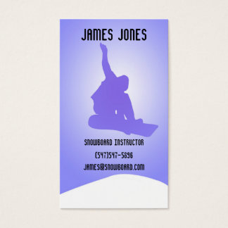 Snowboard Instructor Business Card