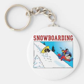 Snowboard Key Ring
