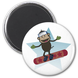 Snowboard Monkey magnet