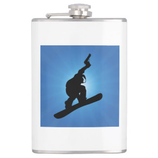 Snowboard Outlaw Hip Flask