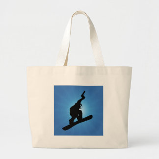 Snowboard Outlaw Large Tote Bag