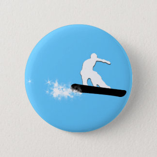 snowboard. powder trail. 6 cm round badge