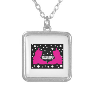 Snowboard Princess Personalized Necklace
