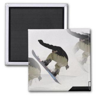 Snowboard Rails Square Magnet Magnet