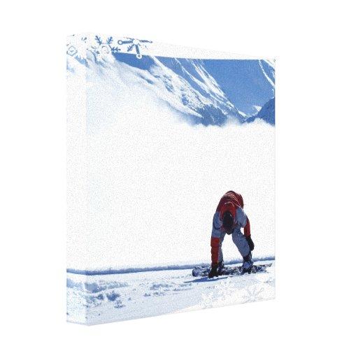 Snowboard Slide Canvas Print