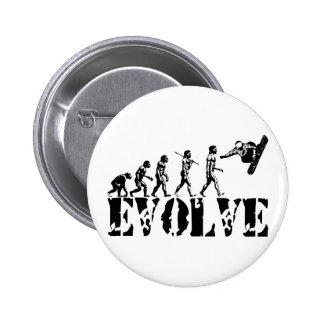 Snowboard Snowbording Sport Evolution Art 6 Cm Round Badge