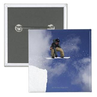 Snowboarder 2 15 cm square badge