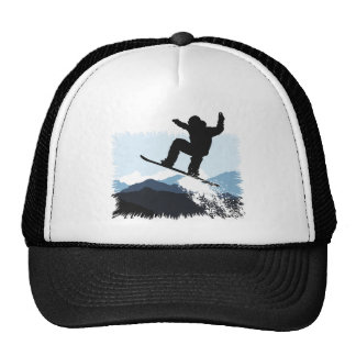 Snowboarder Action Jump Cap