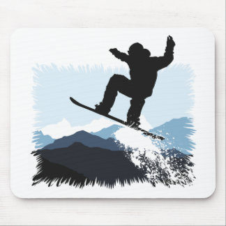 Snowboarder Action Jump Mouse Pad