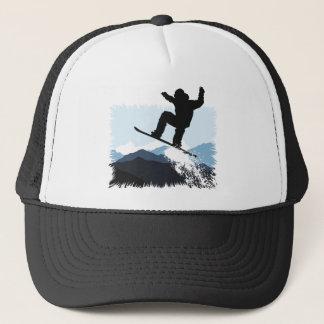 Snowboarder Action Jump Trucker Hat