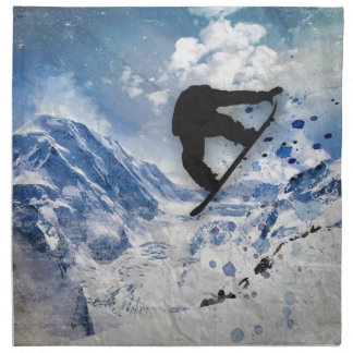 Snowboarder In Flight Napkin