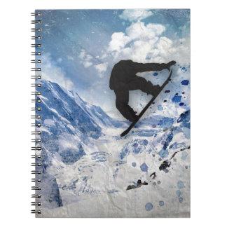 Snowboarder In Flight Notebooks
